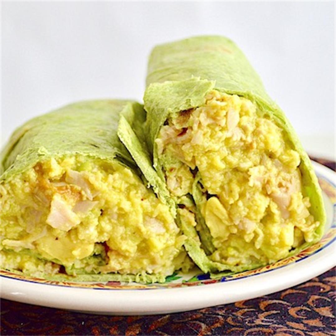 Turkey Avocado Breakfast Burritos
