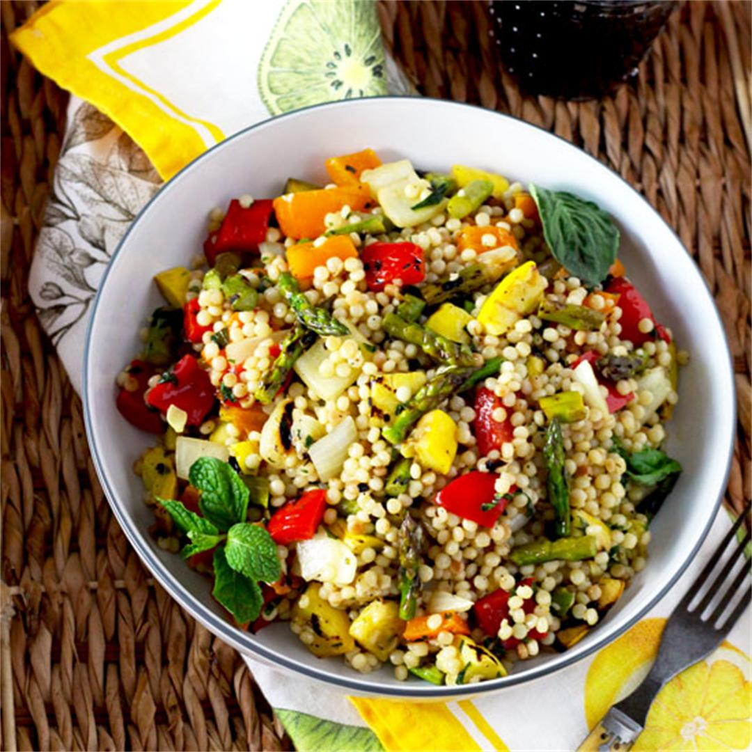 Grilled Vegetables and Couscous Salad
