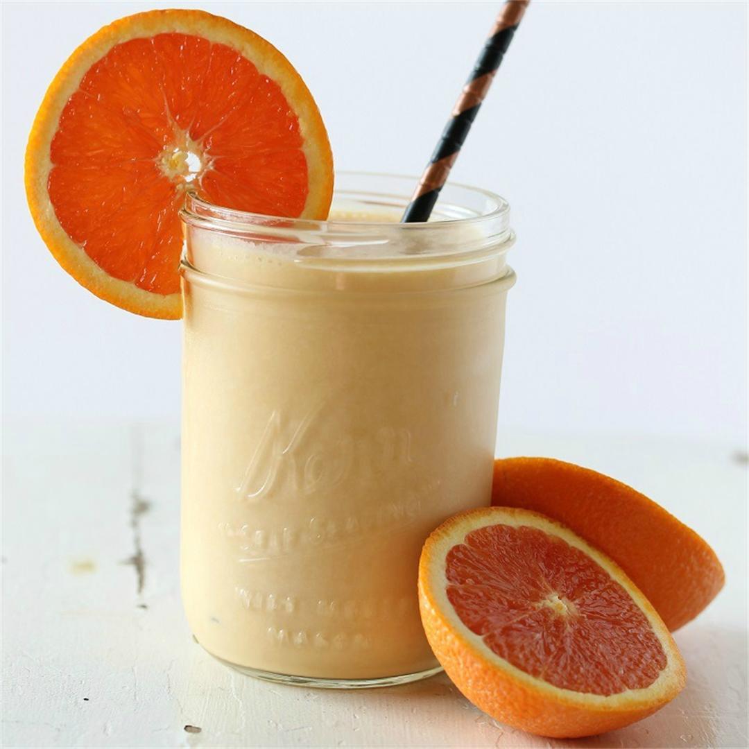 Mandarin Orange Coconut Creamsicle Protein Smoothie