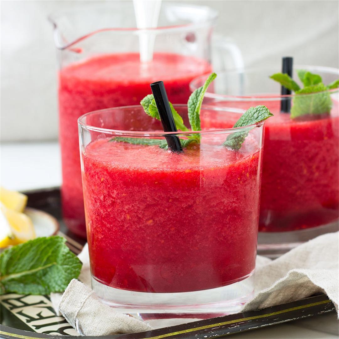 Healthy Raspberry Slushie