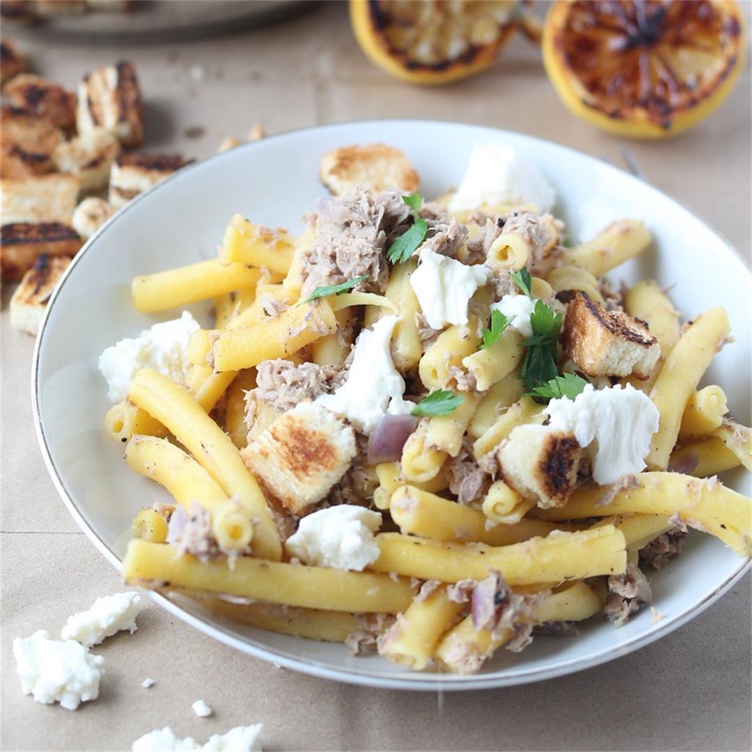 Caramelized Lemon, Tuna, and Mozzarella Tubini
