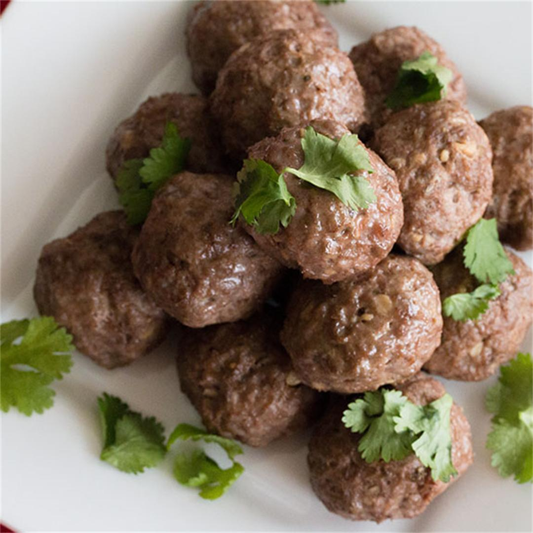 Indian Spiced Lamb Meatballs