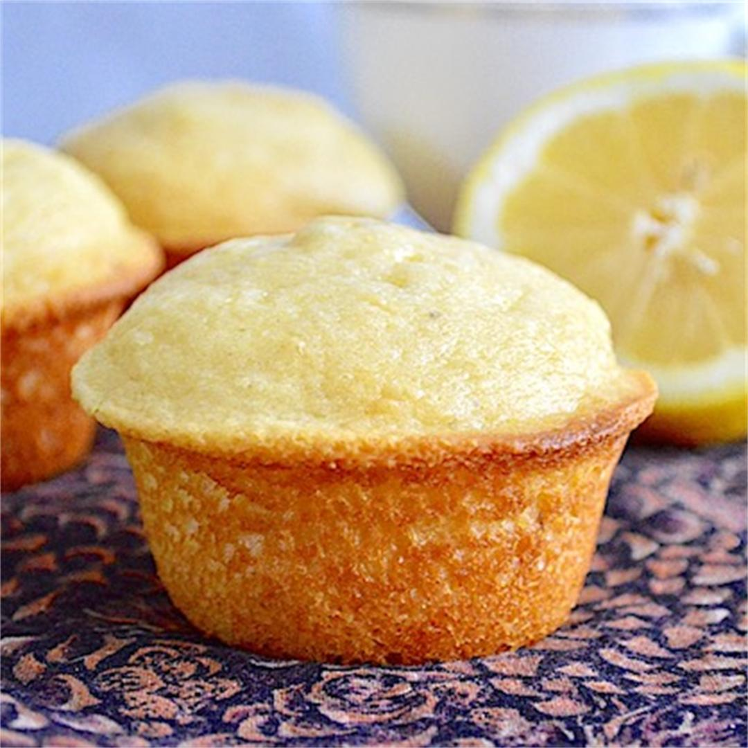 Lemon Lavender Mascarpone Muffins