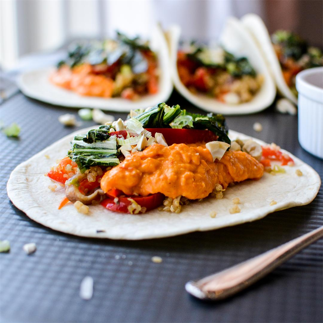 Thai Red Curry Tacos