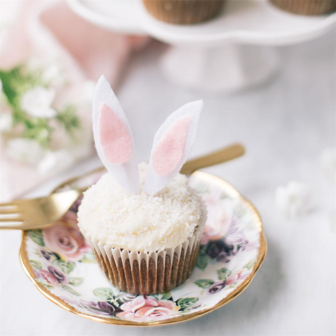 Carrot Cake Cupcakes with Cream Cheese Frosting for Easter