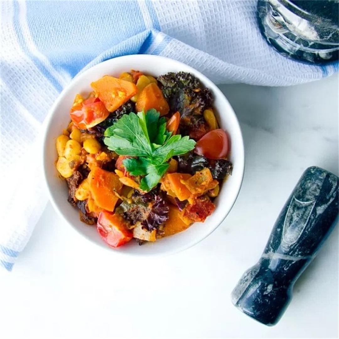 Moroccan White Bean Stew