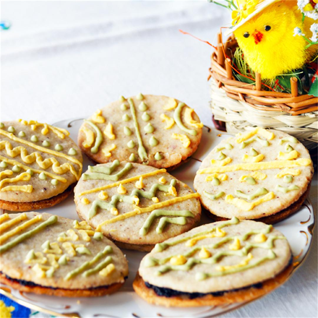 Painted Easter Eggs from Shortbread