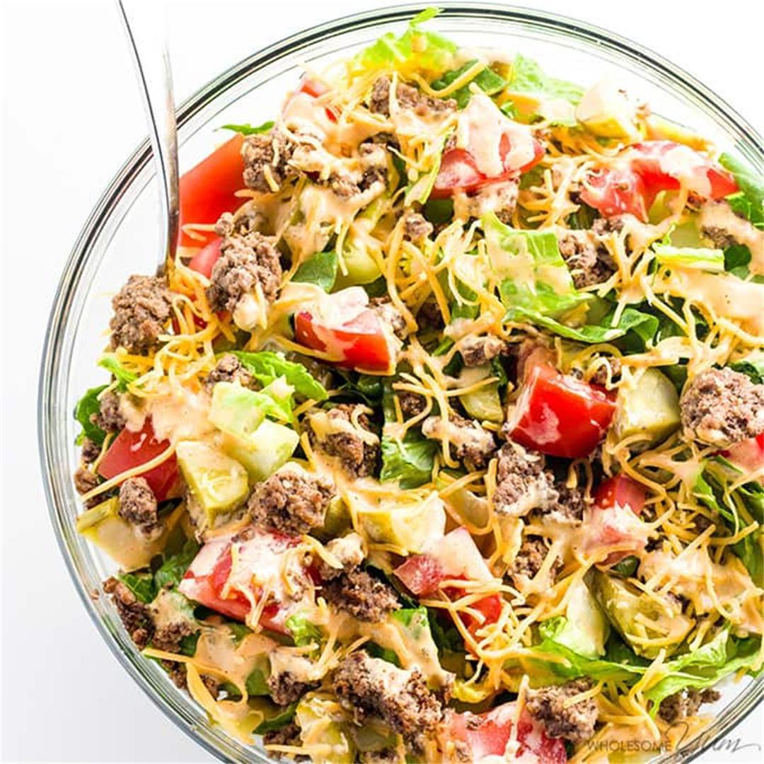 Big Mac Salad Recipe Cheeseburger Salad Recipe Low Carb Gluten Free