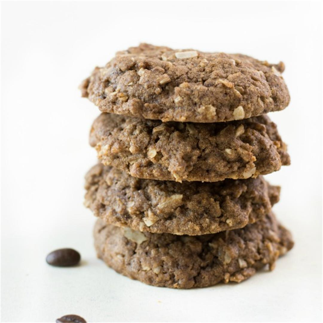 2174fdeff3a Gluten Free Coffee Flour Cookies with Coconut - Fearless Dining