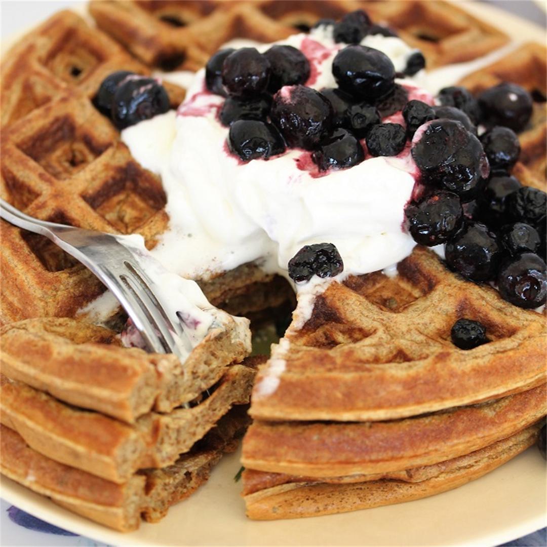 Super Easy 4 Ingredient Waffles