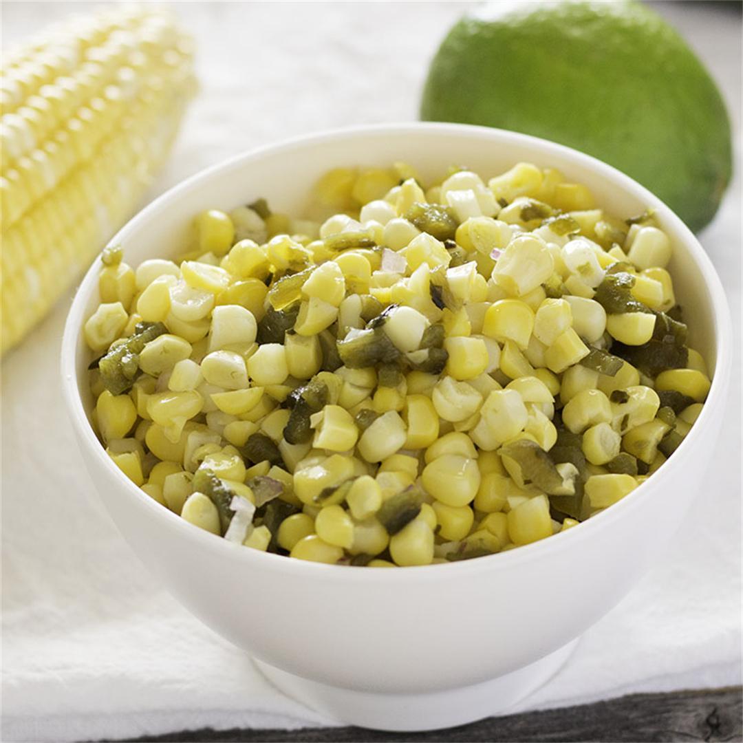 Corn and Roasted Poblano Salsa