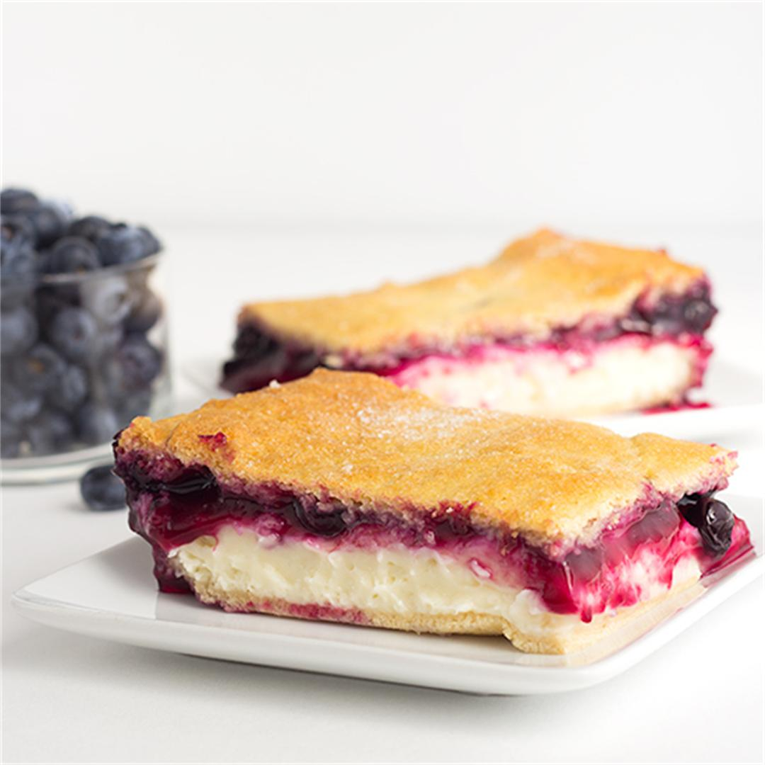 Blueberry Cream Cheese Danish with Crescent Rolls