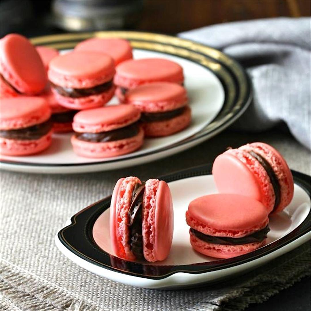 Macarons with Chocolate Buttercream Filling
