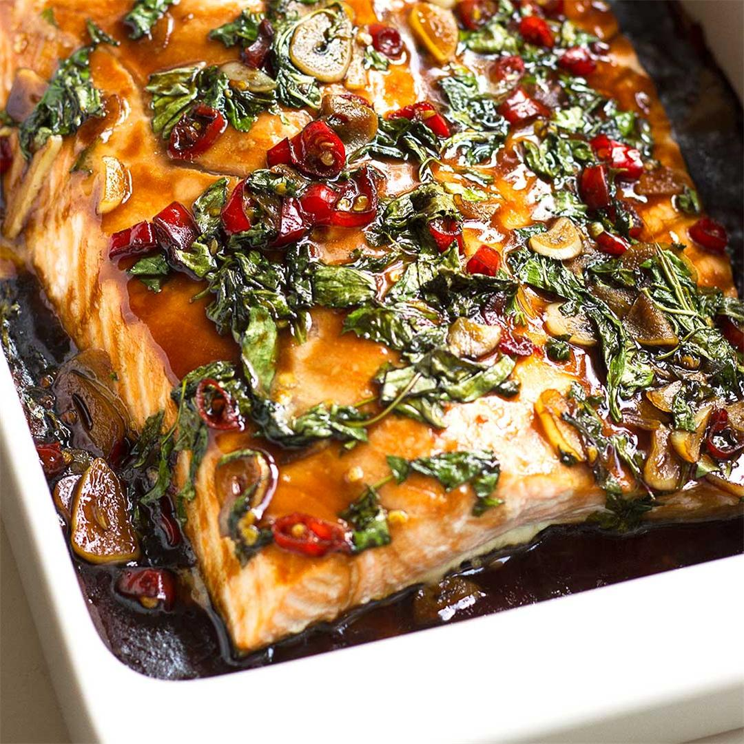 Thai Salmon with Chilli and Basil