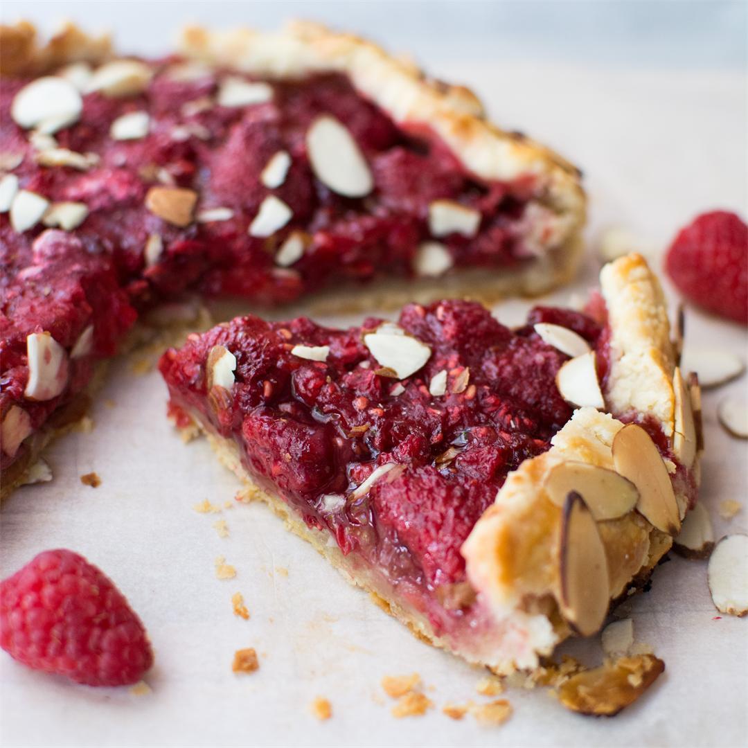 Raspberry Almond Galette
