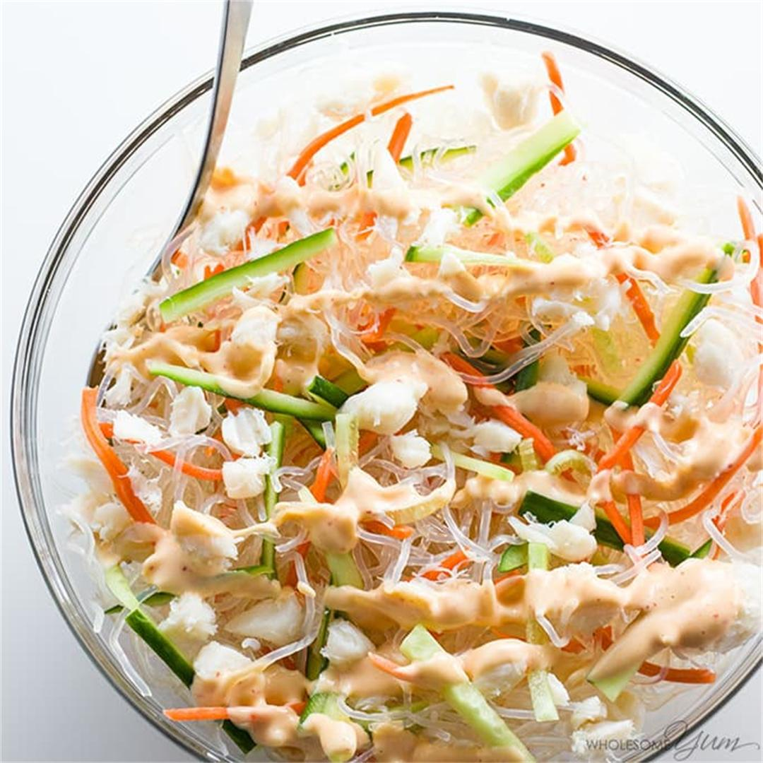 Kani Salad Recipe - Japanese Salad (Low Carb, Paleo)