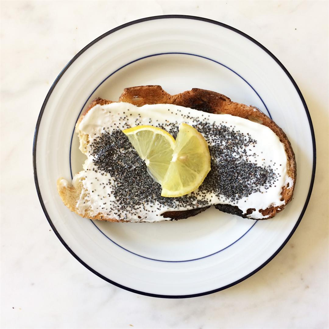 Lemon Poppy Seed Toast