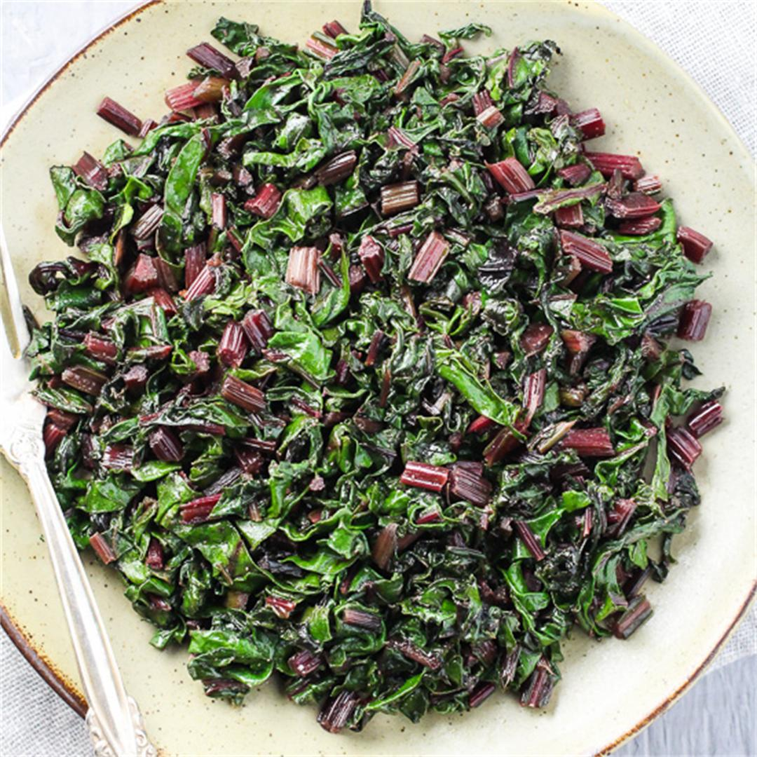 Easy Sauteed Beet Greens
