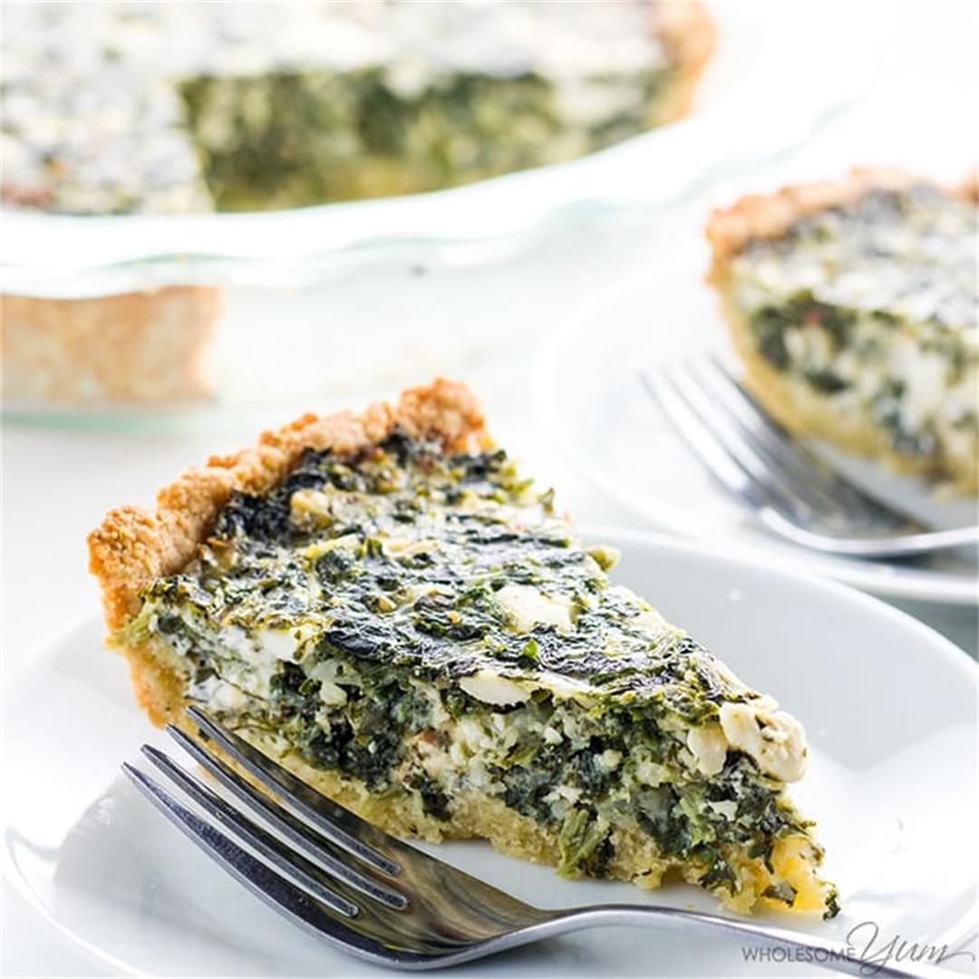 Greek Spinach Pie (Low Carb, Gluten-Free)