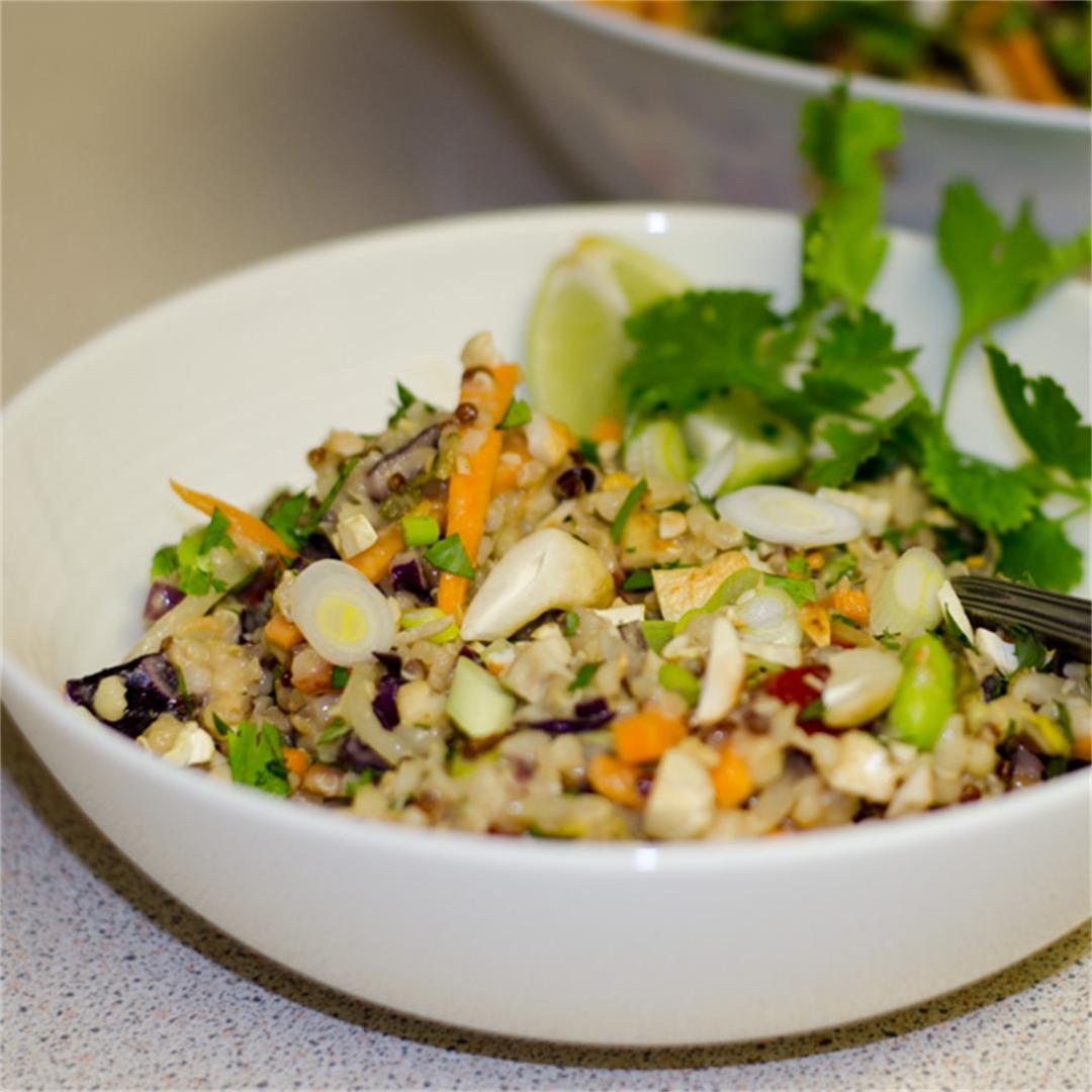 Thai-Inspired Quinoa and Bulgur Wheat Salad