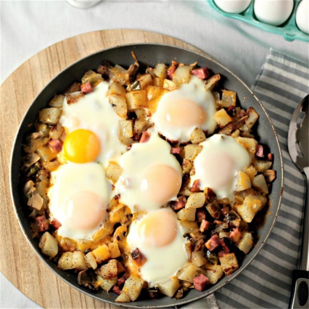 Ham Potato Breakfast Skillet