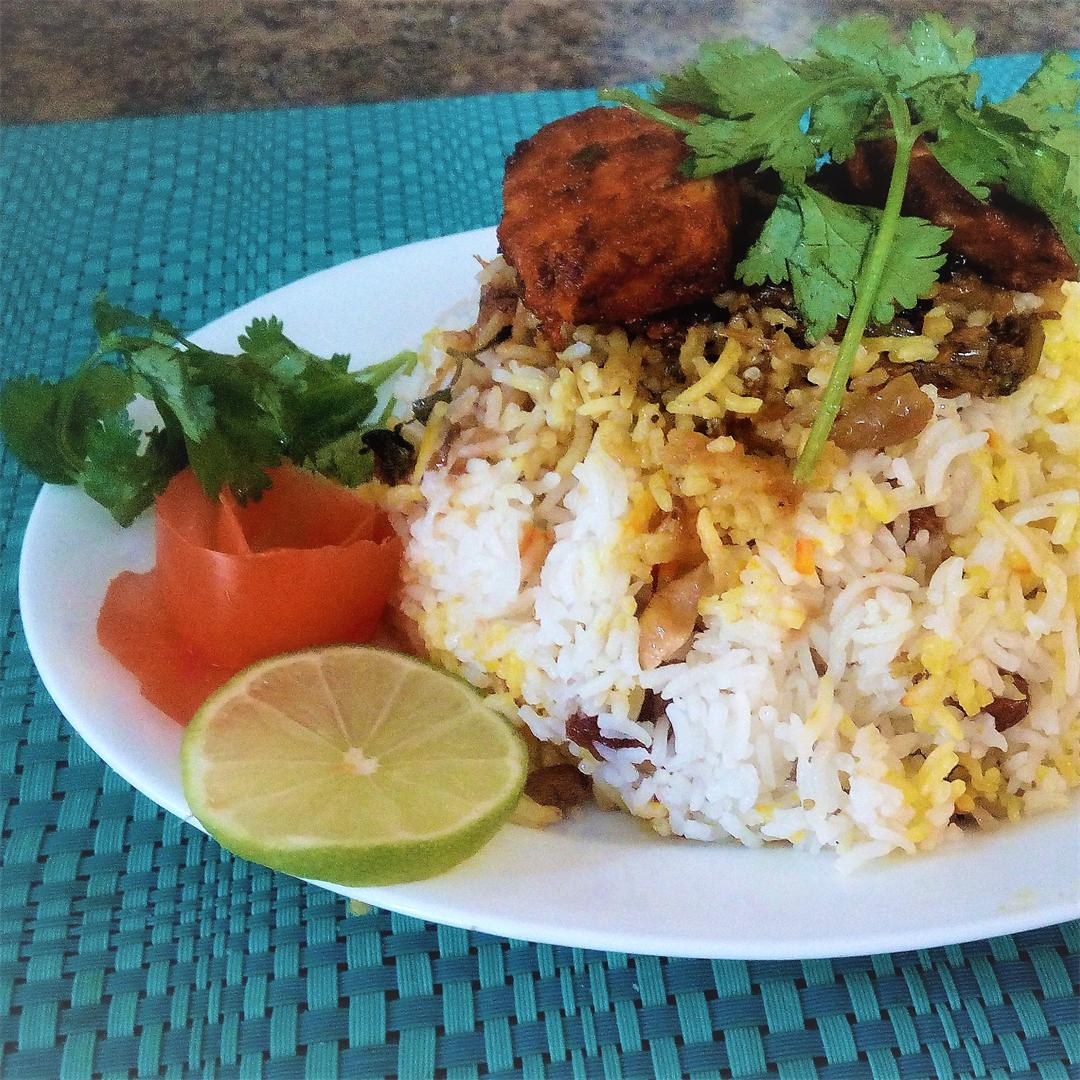 Fish Biryani - Spicy Fish Masala Served with Basmathi Rice