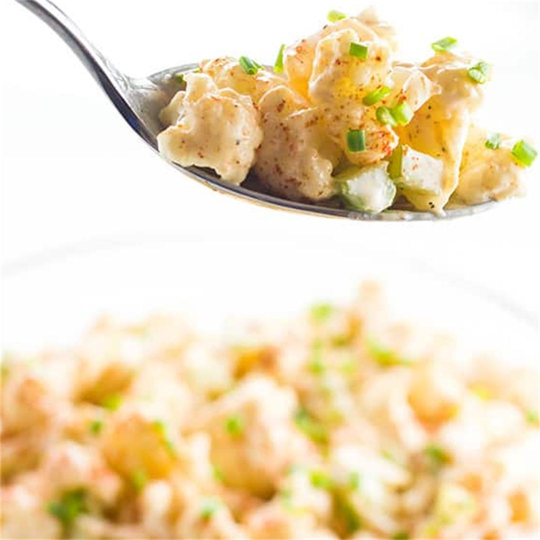 Cauliflower Potato Salad (Low Carb Paleo Potato Salad)