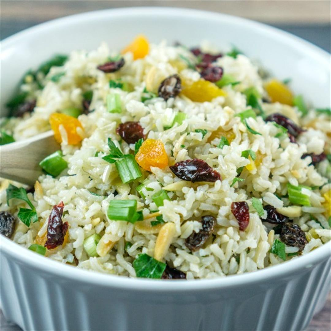 Crunchy Brown Rice Salad with Nuts & Dried Fruit