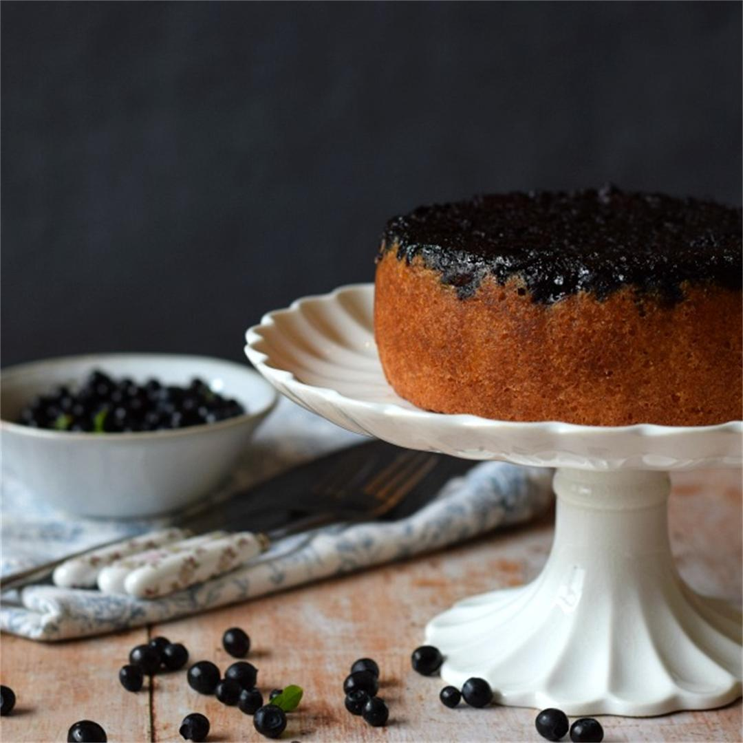 Bilberry Upside Down Cake