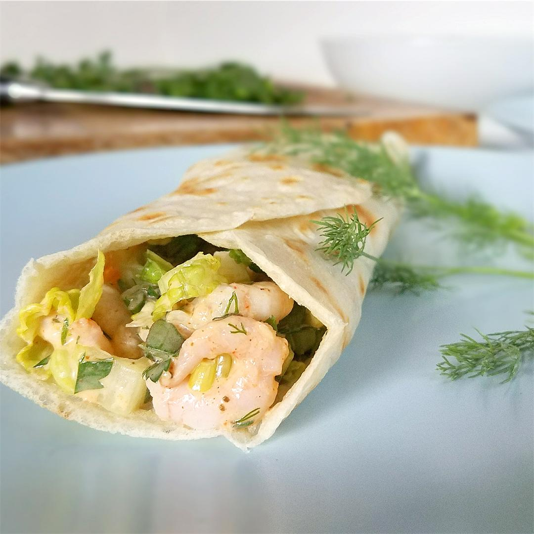 Shrimp Salad Wraps - Grain-free, Low-carb, Paleo