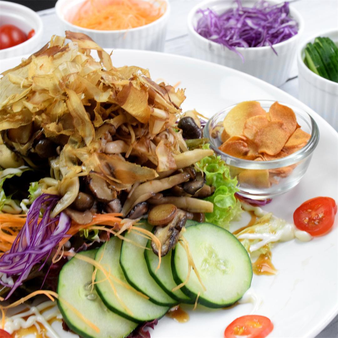 Japanese mushroom salad