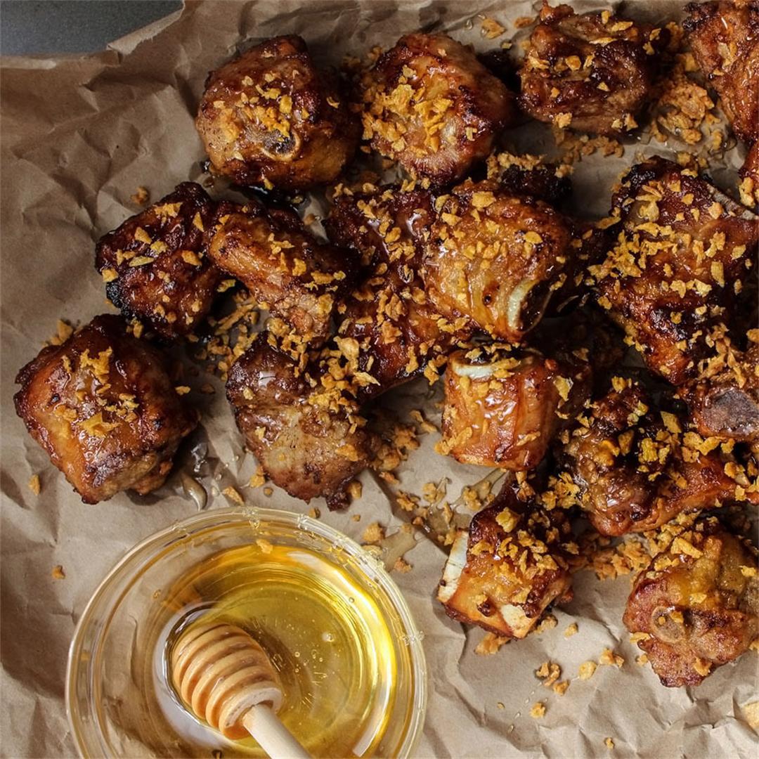Crispy Honey Garlic Ribs