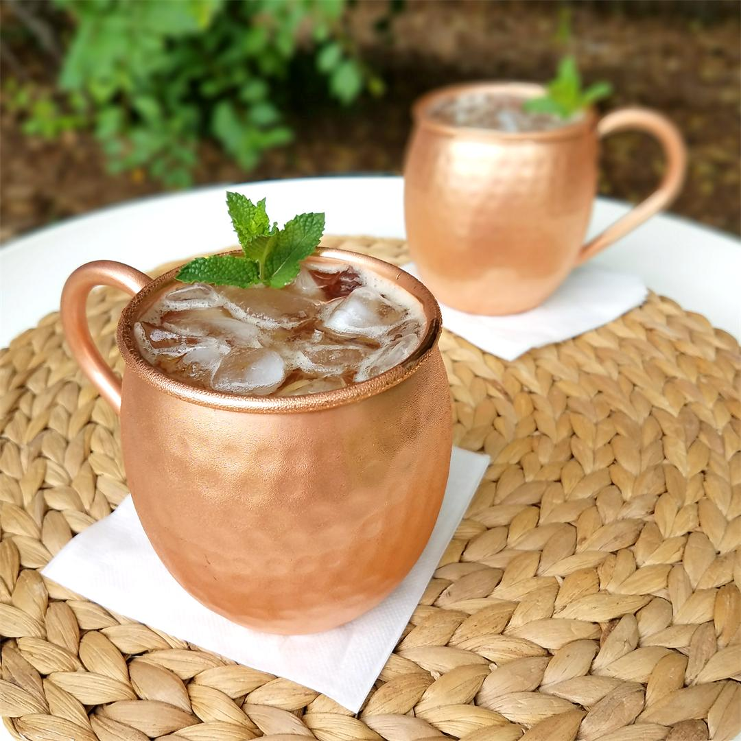 Low Sugar & Low Calorie Kentucky Mule Cocktail