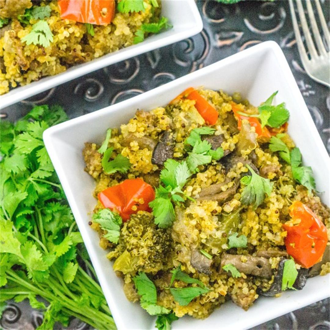 Instant Pot Quinoa with Sausage & Veggies