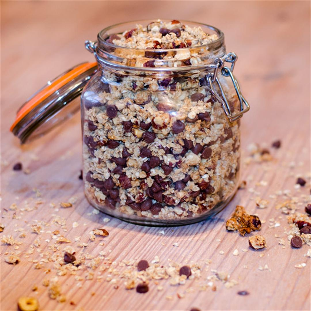 Hazelnut and Chocolate Granola