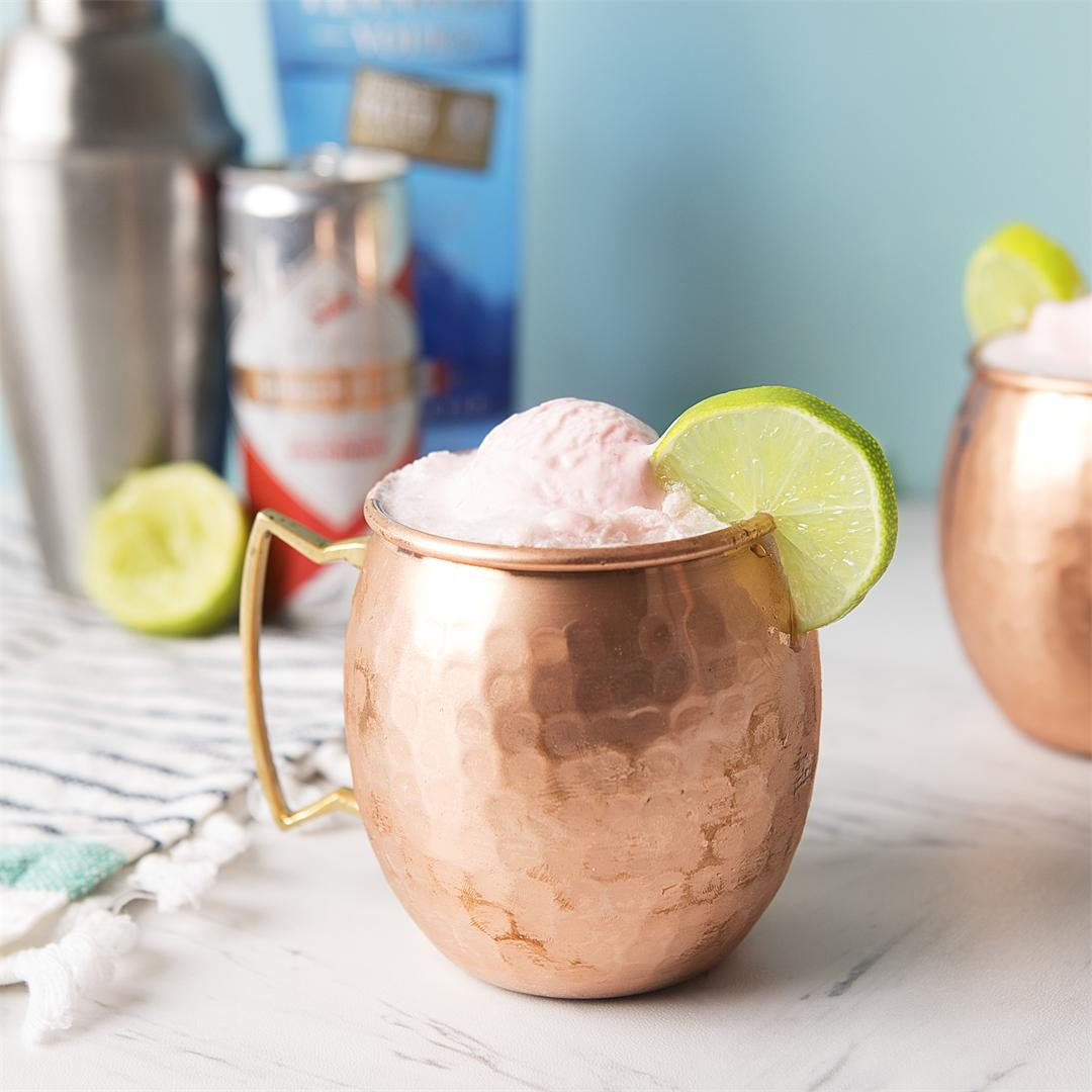Strawberry Moscow Mule Float