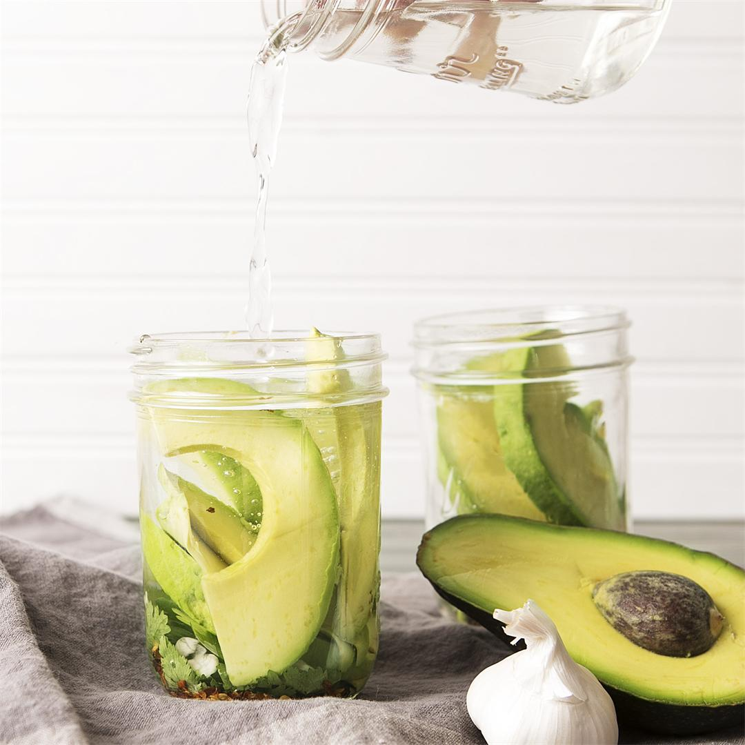Pickled Avocado Slices