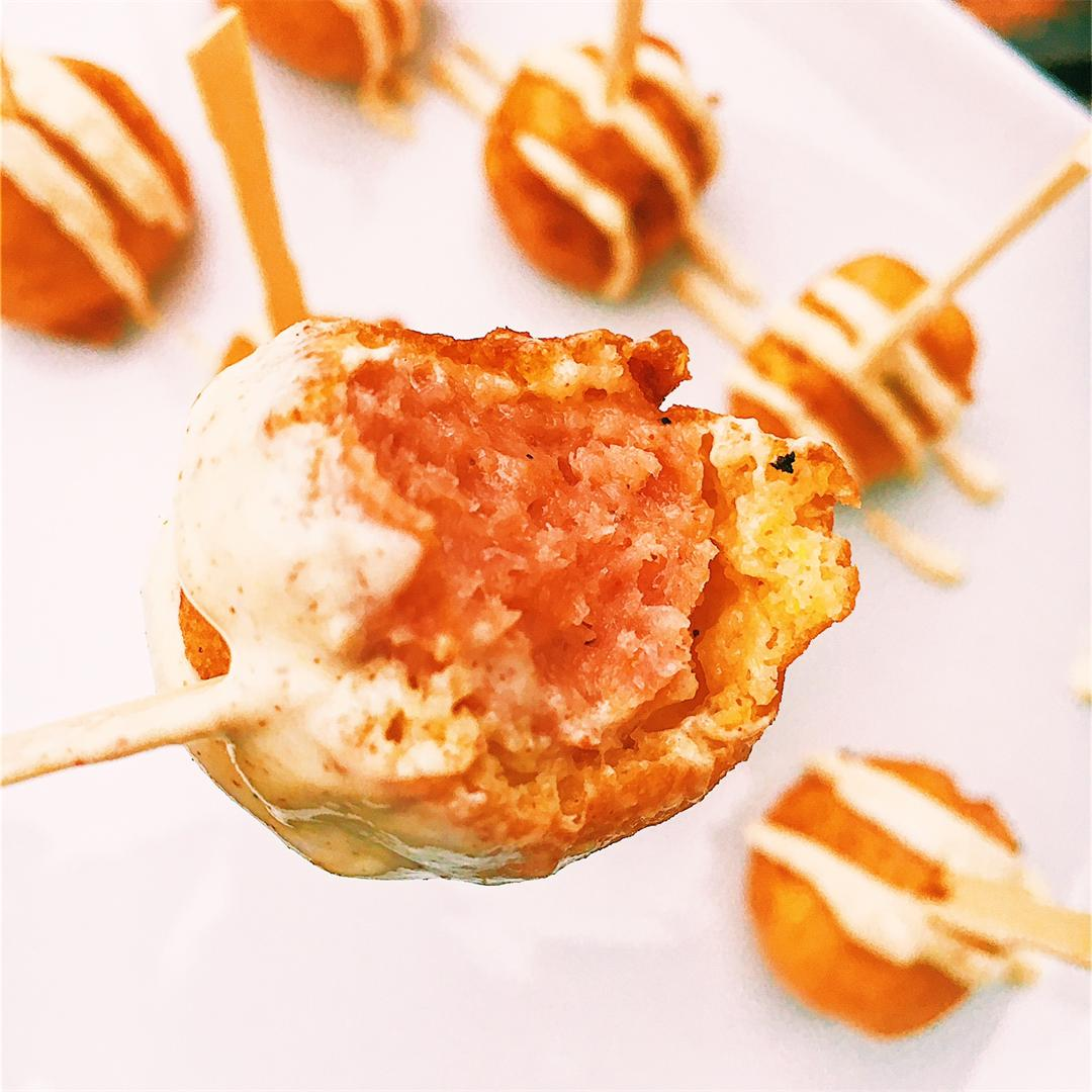 Mini Kielbasa Dijon Corn Dog Bites