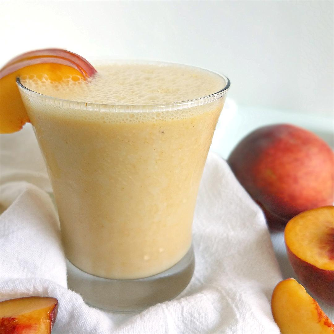 Inflammation Fighting Peach Smoothie with Probiotics
