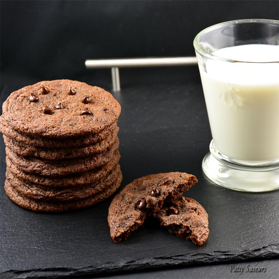 Chocolate Chocolate Chips Cookies