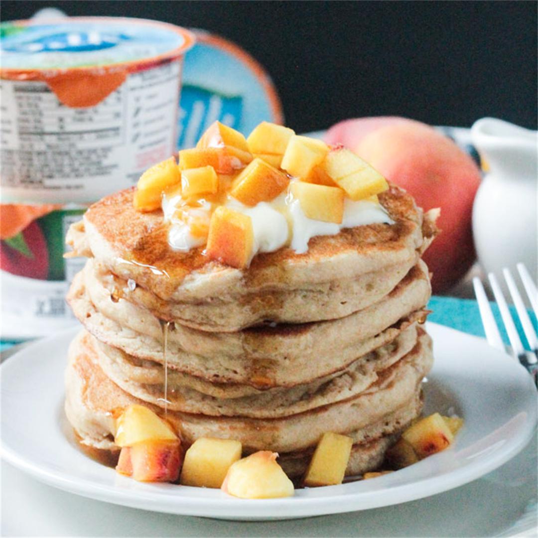 Peaches & Cream Dairy Free Pancakes
