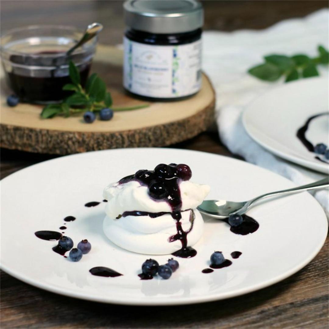 Foolproof Blueberry Pavlova