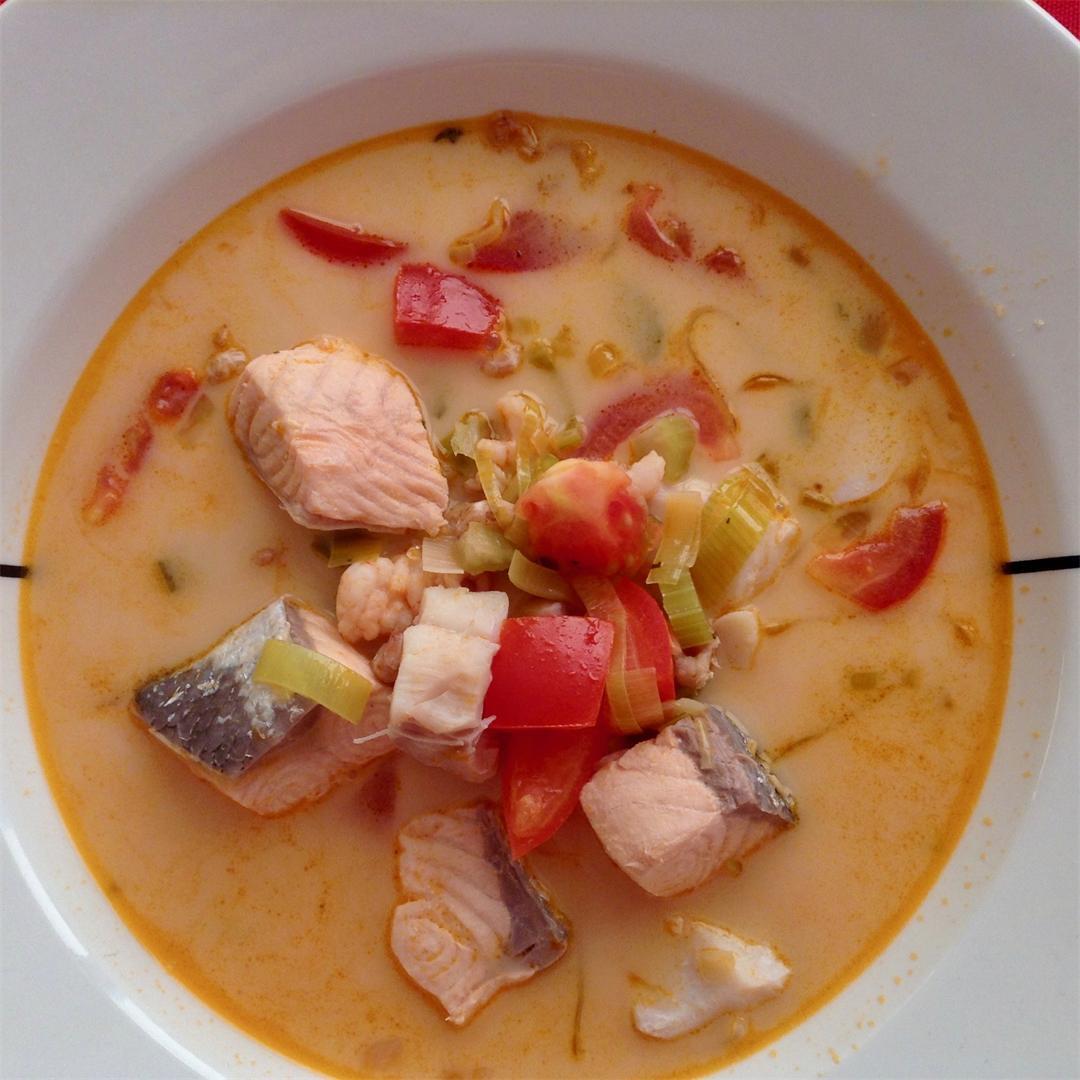 Icelandic fish soup – Fiskasúpa