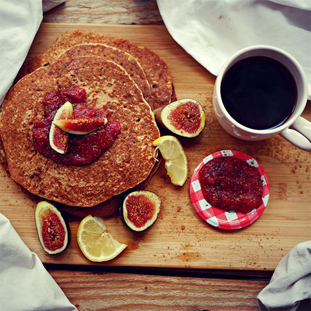 Apple, Oat & Ginger Pancakes