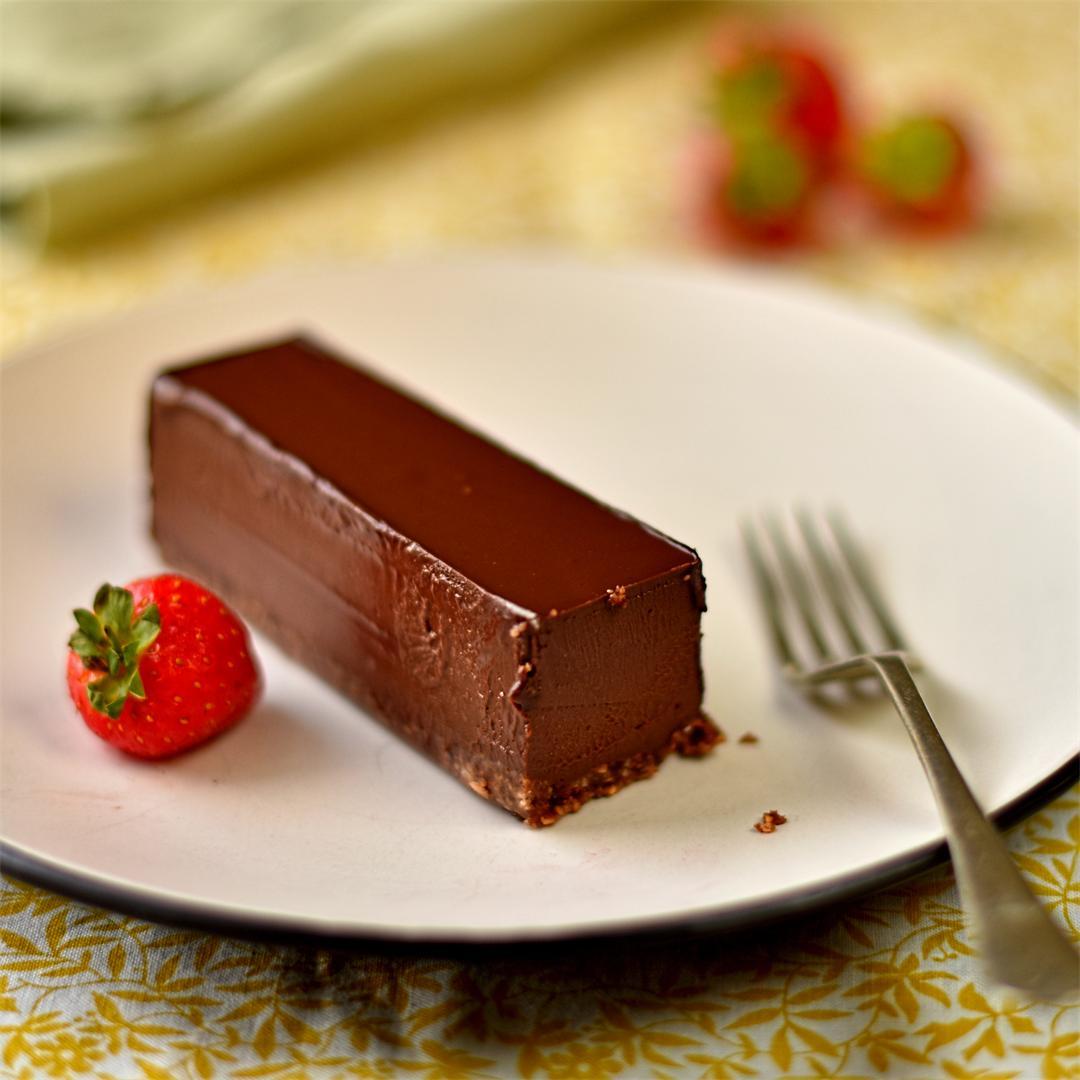 cobnut and chocolate pavé