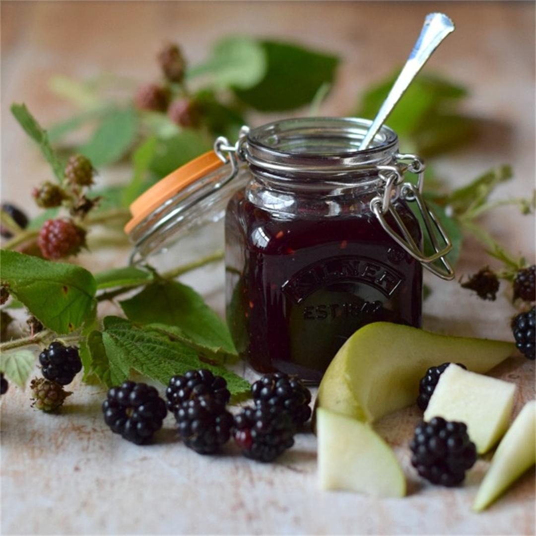 Homemade Blackberry & Pear Jam, 25% less sugar than most