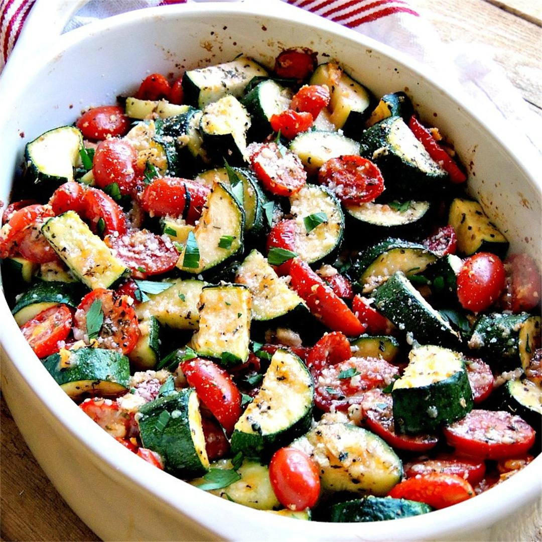 Italian Baked Zucchini and Tomatoes