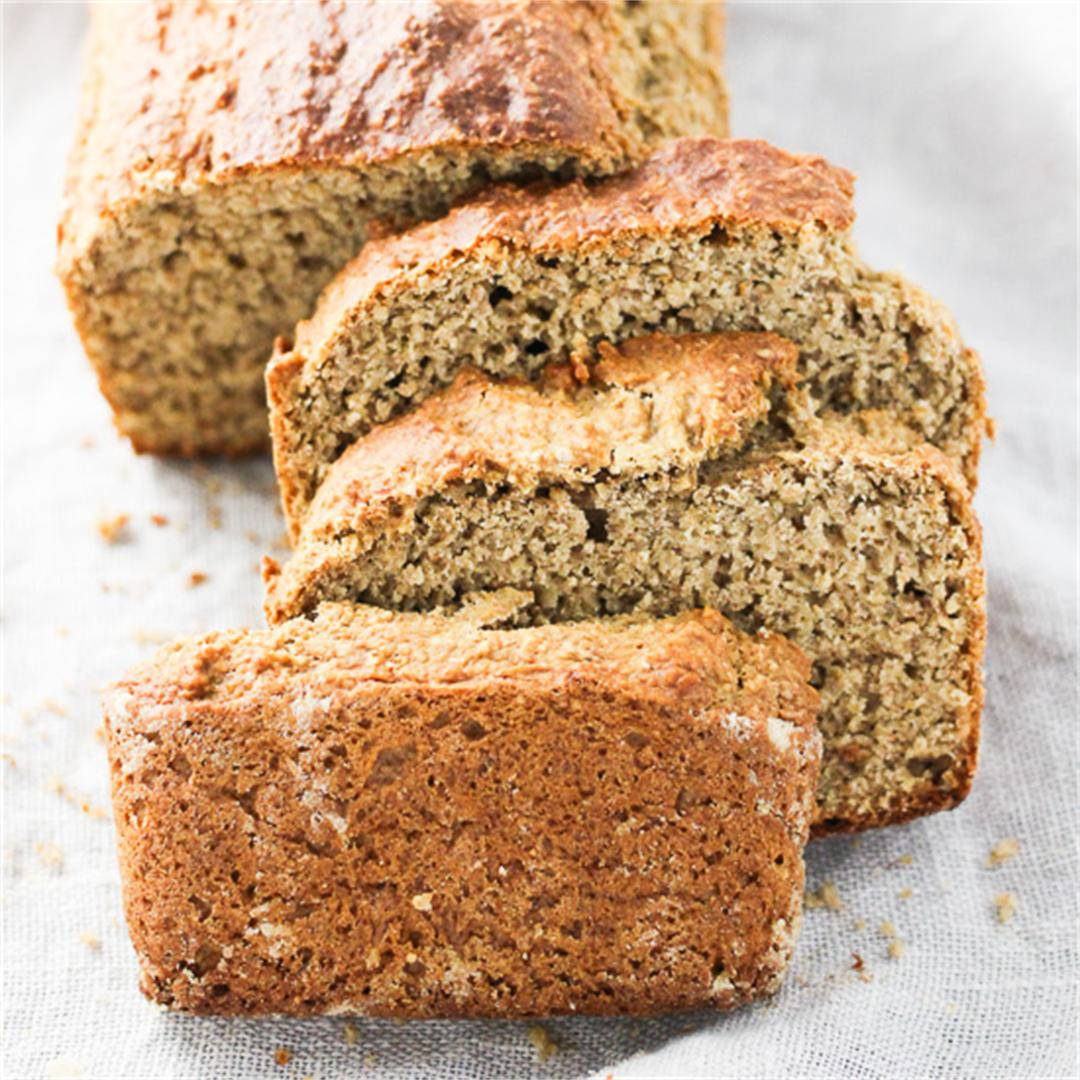 Whole Wheat Banana Bread Made with Oat Bran