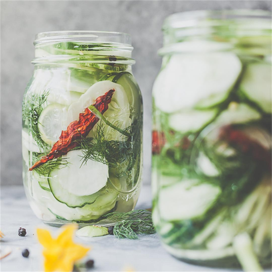 Super Quick Refrigerator Pickles