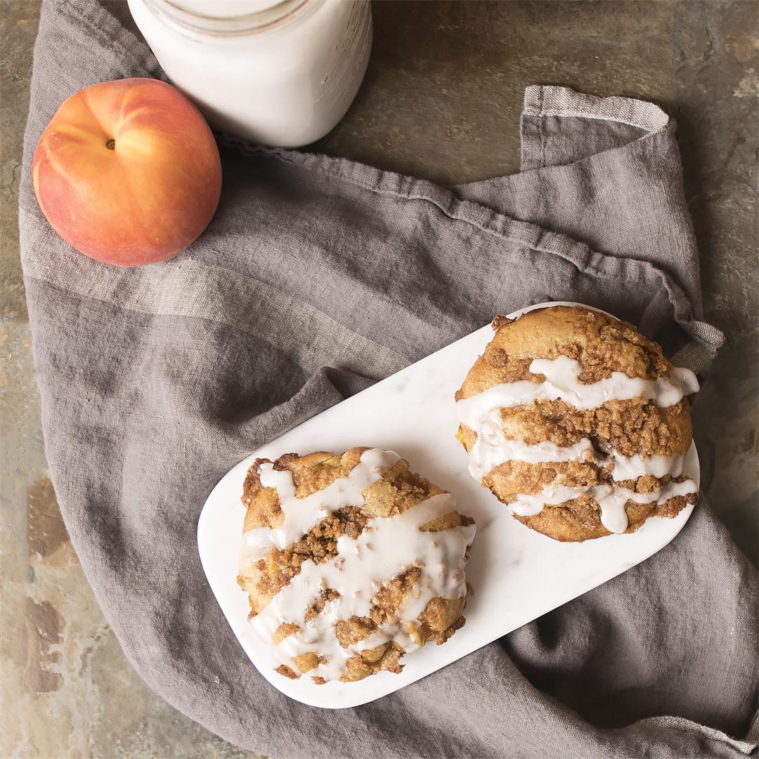 Peach Streusel Muffin Tops